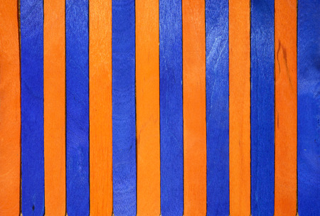 Orange and blue wood vertical separated abstract background Stock Photo