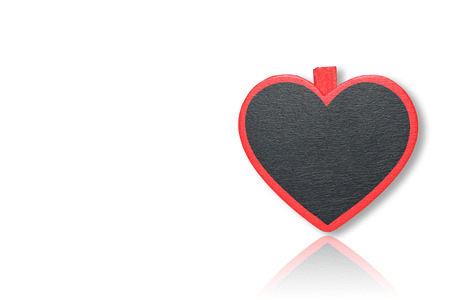 note board: Note board with heart shape on isolated white background