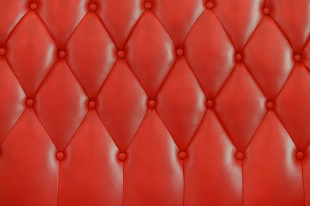 red leather texture: Red leather texture from sofa for background