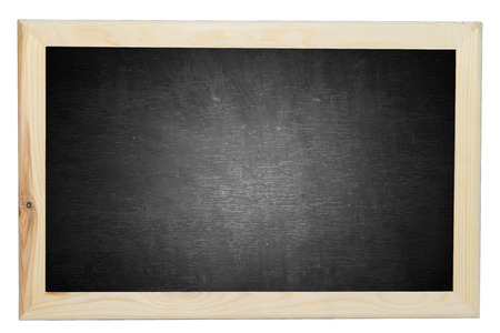 Blackboard texture with wood frame on isolated white