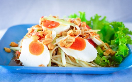 Salted egg salad  photo