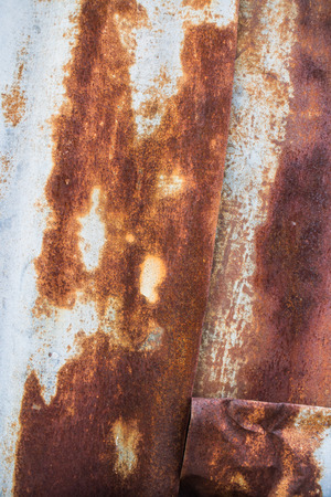zinc: Rust old zinc roof, rusty abstract background Stock Photo