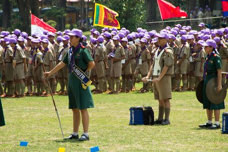 regularity: Chonburi, Thailand - April 4: unidentified Thai Scout in 20th THAILAND NATIONAL SCOUT JAMBOREE as part of the study on April 4,2015 in Vajiravudh Scout Camp, Chonburi, Thailand.
