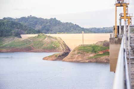 dams: Khun Dan Prakan Chon dam, Nakhon Nayok, Thailand  dams to store water.