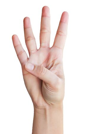 symbol sign language number four
