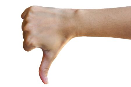 symbol sign language I do not like Stock Photo
