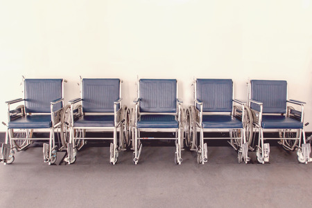 invalidity: Wheelchair available Lined up in hospital