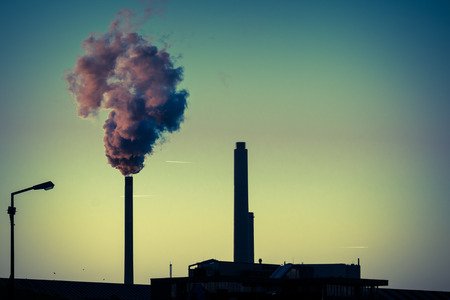 co2 emissions: Power station Stock Photo