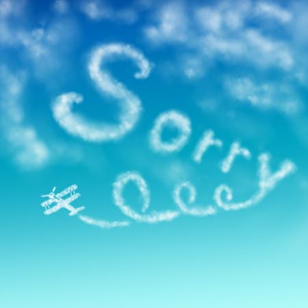 apology: Sorry Stock Photo