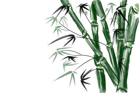 korea food: Bamboo drawing background