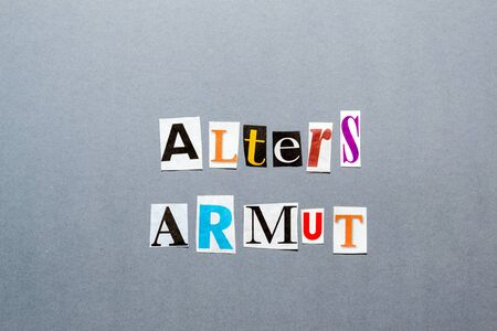 hartz 4: Altersarmut Stock Photo