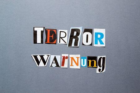 terror: Terror Warning Stock Photo
