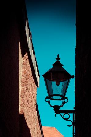gloom: Streetlamp Stock Photo