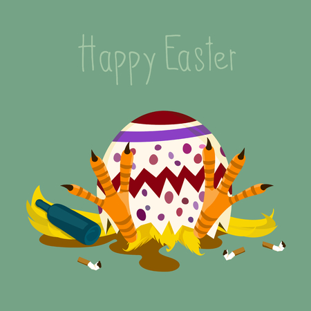 intoxication: Happy Easter Illustration