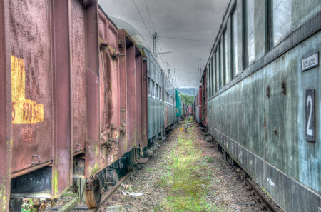 caboose: Abandoned railroad wagons - HDR