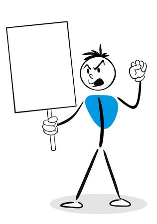 protester: Stick Man Concept - Protester