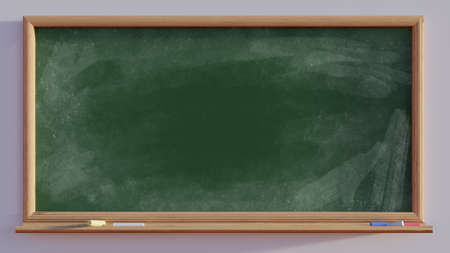 mathematics: 3d render of a blackboard with chalk wipes Stock Photo