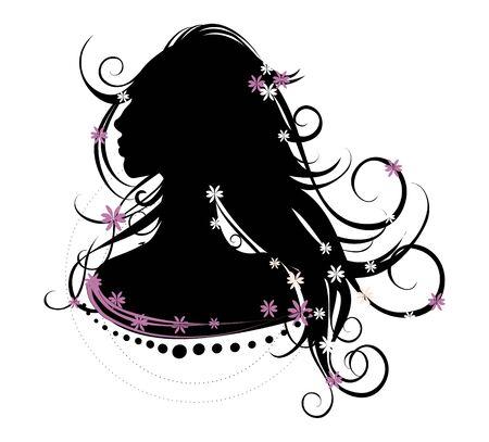 blacke hair, pretty women, beautiful girl, lonely girl photo