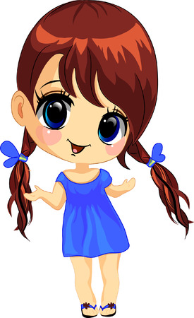 Vector illustration of a happy little girl Stock Vector - 10783101