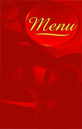 abstract bacground: Vector menu design. red abstract bacground.