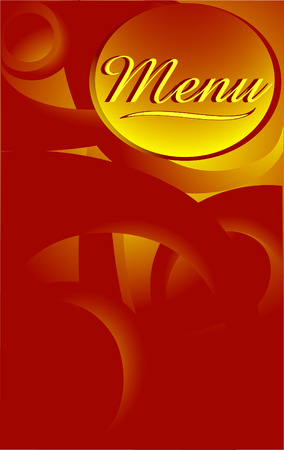 fine dining:  Vector menu design. golden abstract bacground.