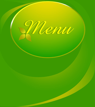 abstract bacground: Vector menu design. green abstract bacground.