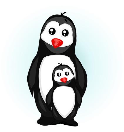 icy: Penguin Vector Illustration Illustration