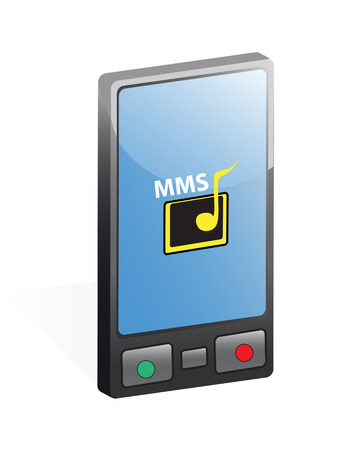 musik: Mobile phone in vector