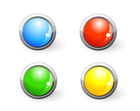 beautiful vector website buttons