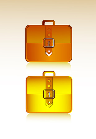 brief: Brief brown case, vector icon