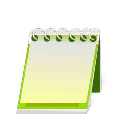 tabbed folder: vector file. calendar and organizer