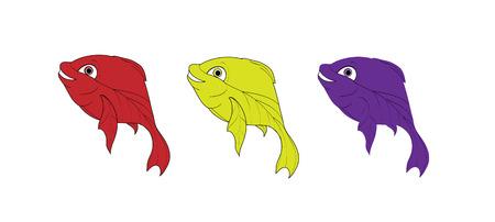 beautiful smal vector fish in sea Stock Vector - 10783187