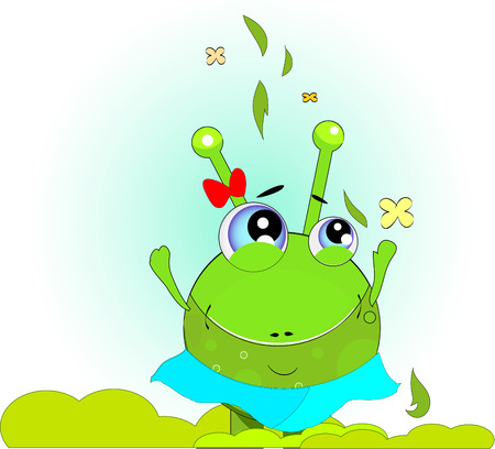 Green Frog vector. green day Vector