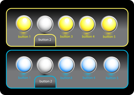 beautiful vector website buttons Vector