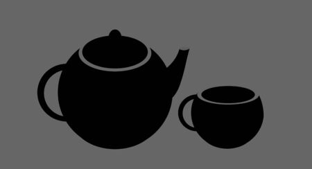 Teapot and cup of tea on a white background Stock Vector - 10783219