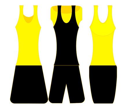 tight: women fashion clothes set - vector