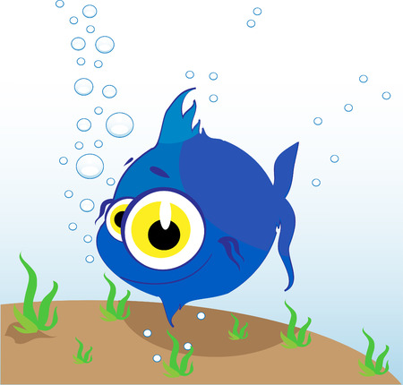 beautiful smal vector fish in sea Vector