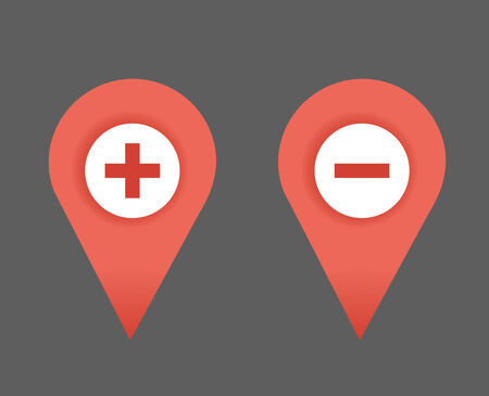 rout: Map symbol, map pointer, vector icon