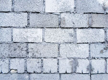 block wall. Old concrete block wall background and texture 写真素材 - 130044544