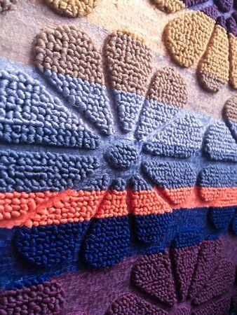 old oriental patterned carpet. pattern on the carpet. background image Stok Fotoğraf - 129258345