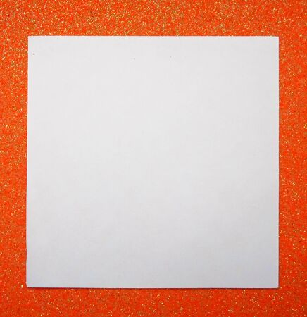 Abstract orange background and white paper, place for text. 写真素材