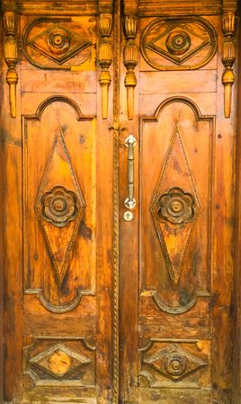 old brown door in an old mosque
