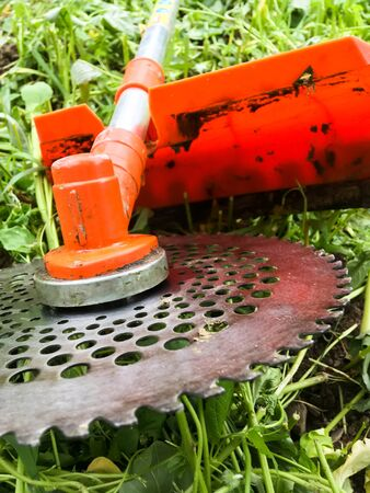 Lawn mower, grass, equipment, mow gardener care work tool