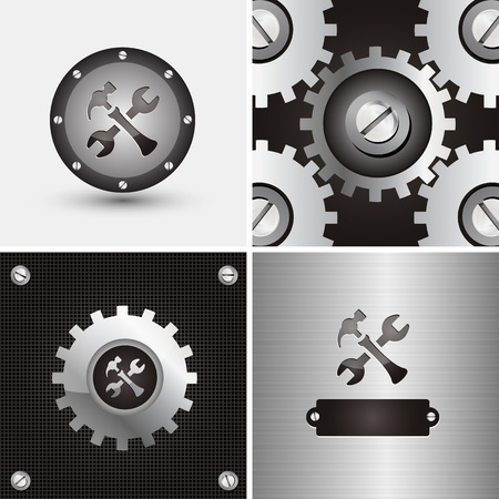 control panel: symbol and background for mechanical company