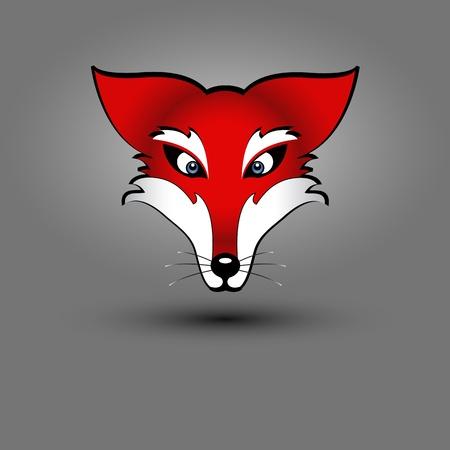 fox face: de dibujo vectorial de un zorro rojo