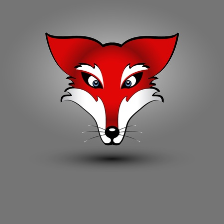 vector drawing of a red fox