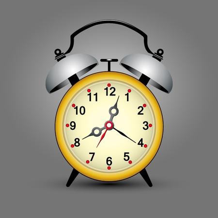 riparatore: giallo ticchettio dell'orologio retro con spazio per il tuo messaggio Vettoriali