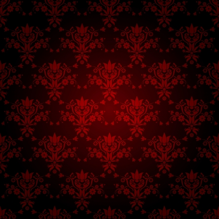 decorative red seamless wallpaper with dark background