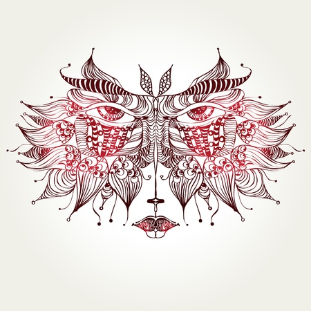 isolated decorative cat mask template