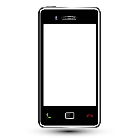 Smartphone frame with cut empty screen for your content Stock Vector - 15067438